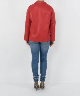 Chaqueta de Cuero Rojo
