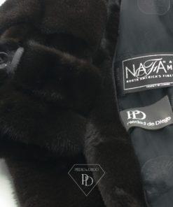 Abrigo de piel de Visón Negro