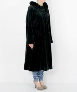 Abrigo Visón Despinzado Negro