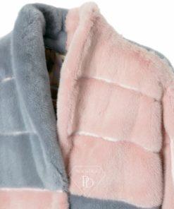 Abrigo de Visón Pink-Grey