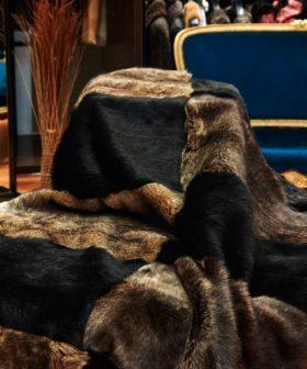 Manta-alfombra de piel de Merino