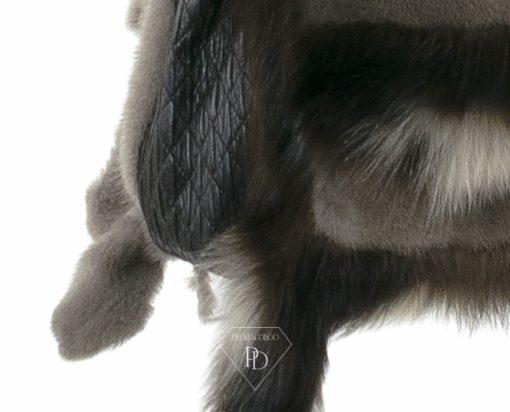 Bolso Visón con patas de Fisher