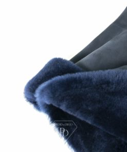 Abrigo Corto Piel Vuelta Blue