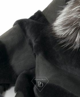 Abrigo piel vuelta con zorro