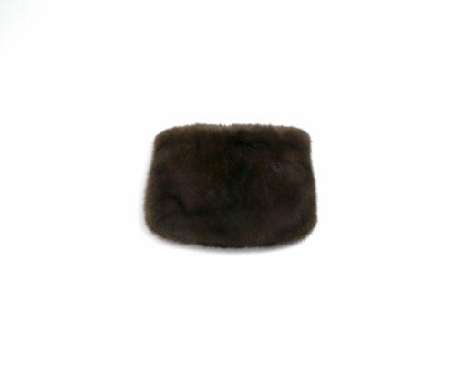 Bolso de mano en piel de Visón en Brown o Black