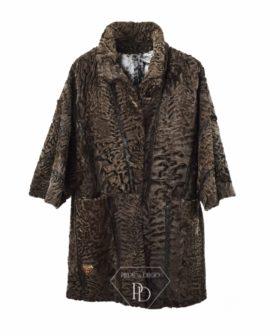 Abrigo de piel de Swakara Choco