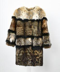 Abrigo de piel manchas. Abrigo de piel Juvenil