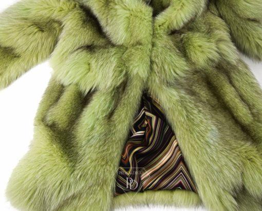 abrigo de zorro para mujer