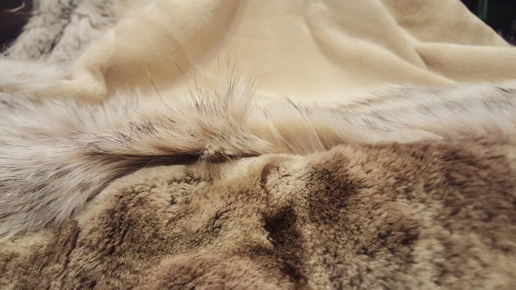 transformar en manta un abrigo de piel