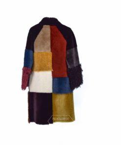 Abrigo de Cordero Reversible mix colores