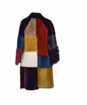 Abrigo de Cordero Reversible mix colores - Abrigo doble faz