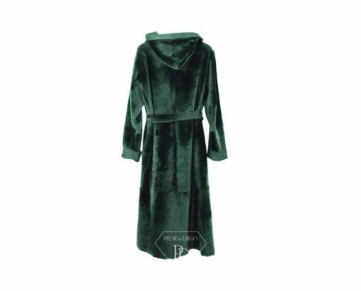 abrigo de cordero con capucha