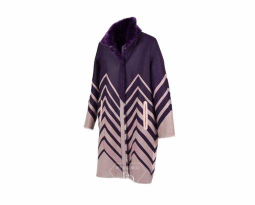 abrigo doble face piel vuelta cordero