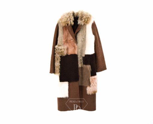 Abrigo piel vuelta Mujer - Abrigo de pelo Cordero