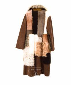 Abrigo piel vuelta Mujer Reversible- Abrigo de pelo