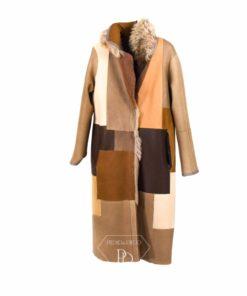 Abrigo piel vuelta Mujer Reversible