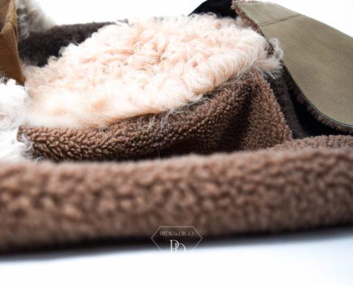 Abrigo piel vuelta Mujer Reversible- Abrigo de pelo Cordero