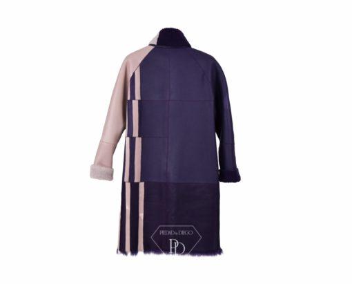 Espalda Abrigo de pelo Reversible Cordero Piel Vuelta Mujer - Lateria