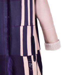 Abrigo de pelo Reversible Cordero Piel Vuelta Mujer - Lateria