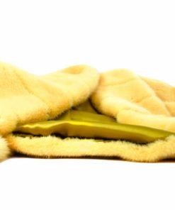 Chaqueta piel Visón Amarilla - Chaqueta visón Capucha - Asiana