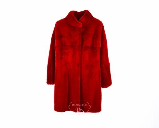 Abrigo Visón Rojo - Abrigo de piel de Visón Rojo - Ryana
