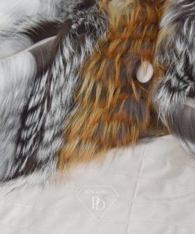 Chaqueta Zorro- Chaqueta piel de zorro tireado
