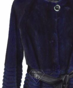 Abrigo Visón sin cuello |Abrigo piel visón