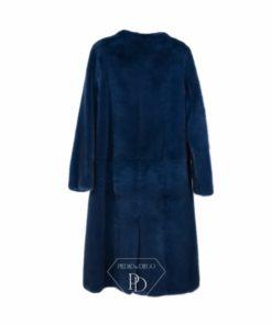 Abrigo de Visón sin cuello en Azul - Abrigo Visón