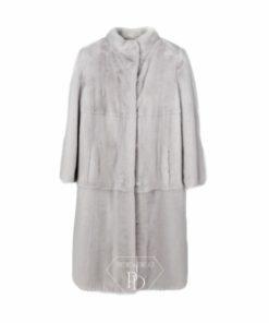Abrigo Visón Blanco - Abrigo en piel de visón