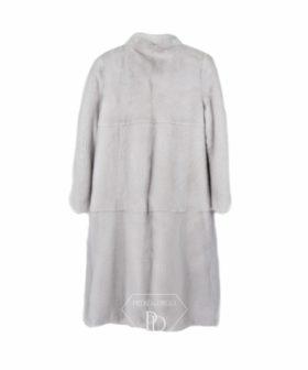 Abrigo Visón Blanco - Perlado - Abrigo en piel de visón