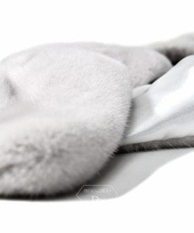 Abrigo Visón Blanco-Perlado - Abrigo en piel de visón