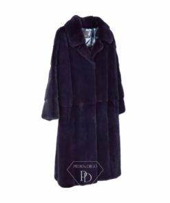 Abrigo Visón con solapa - Abrigo de piel de Visón