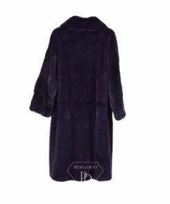 Abrigo Visón con solapa - Abrigo de piel de Visón - 5313