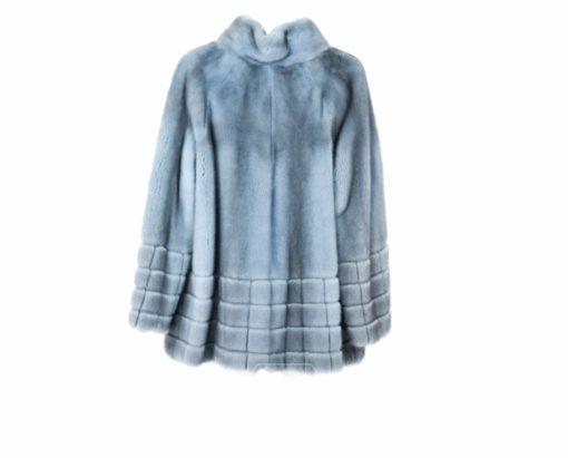 Chaqueta Visón Azul Mujer Cremallera - Chaqueta de pelo Visón Mujer - Firenze