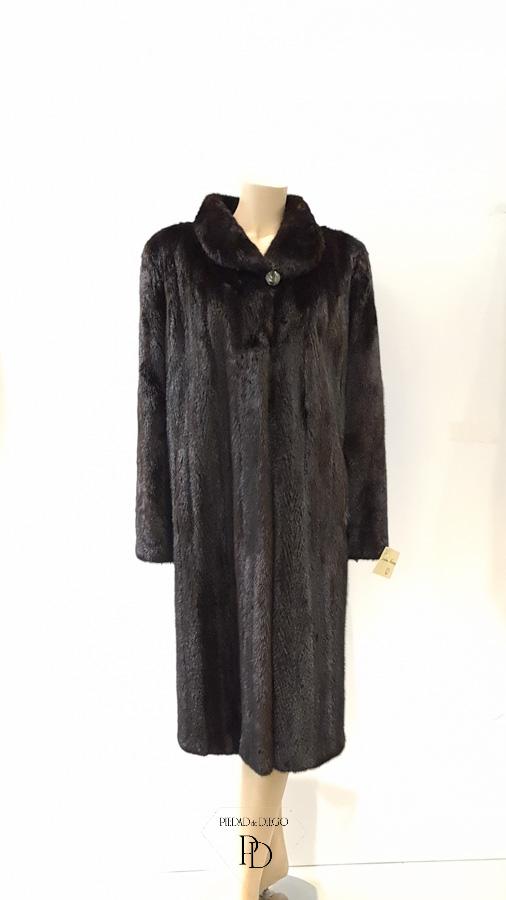 abrigo vison negro clasico