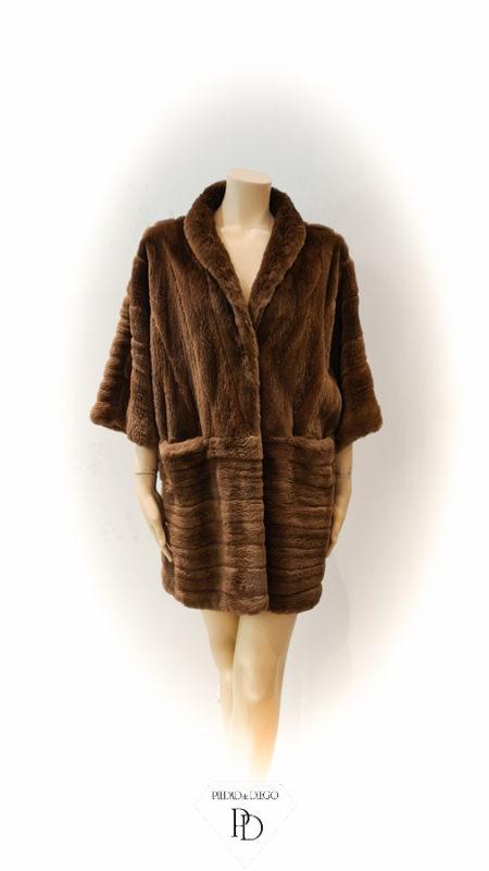 arreglo abrigo de vison despinzado