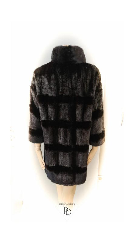 arreglo abrigo vison negro teñido 3 1