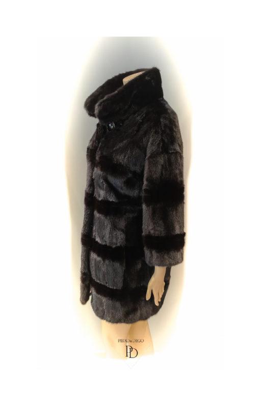 arreglo abrigo vison negro teñido 4 1