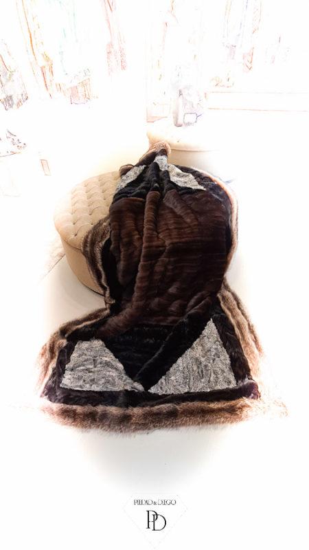 transformar abrigo de piel en manta 2