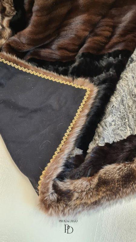 transformar abrigo de piel en manta 4