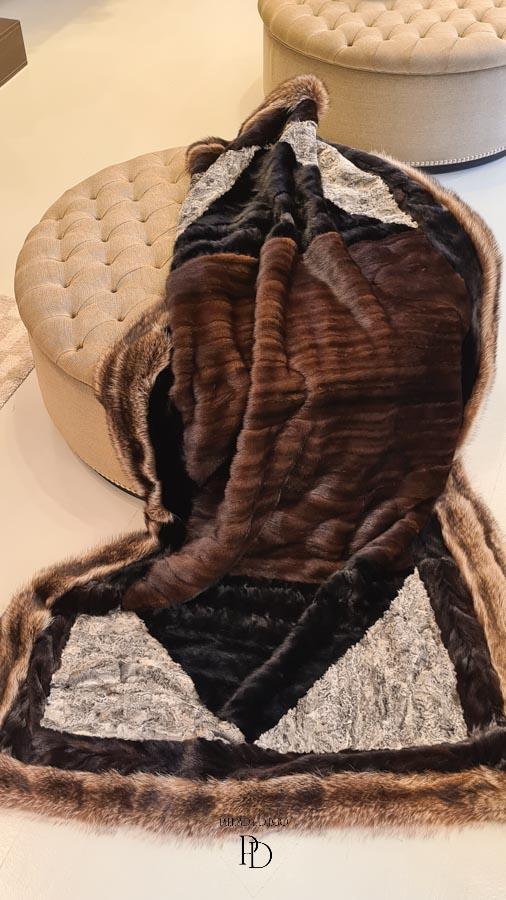 transformar un abrigo de vison en manta
