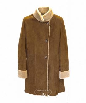 abrigo piel vuelta mujer