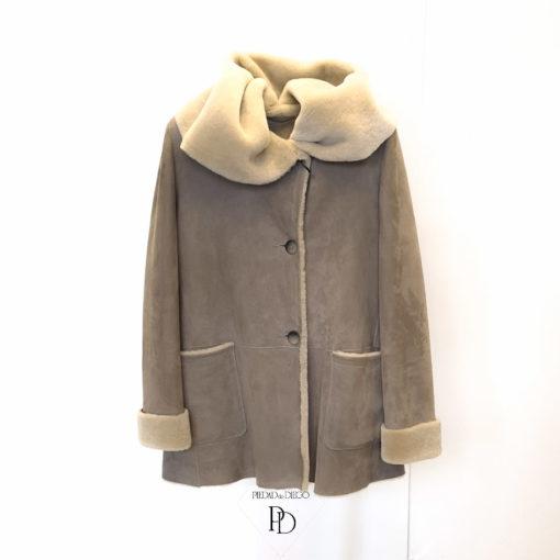 abrigo de cordero para mujer