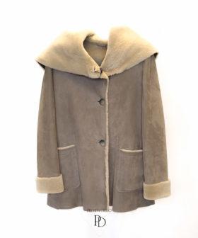 abrigo de piel vuelta mujer