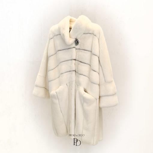 abrigo de vison blanco mujer