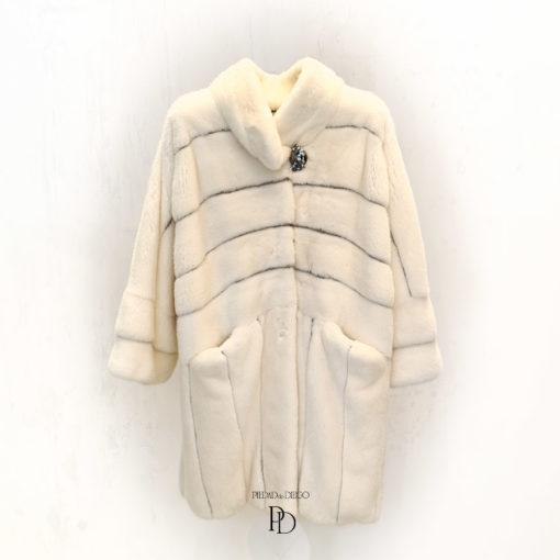 abrigo vison blanco mujer