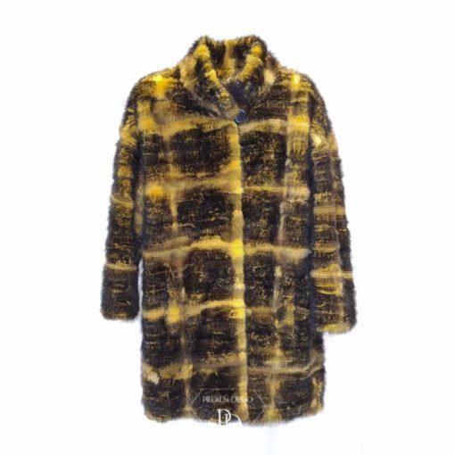abrigo moderno en piel de vison