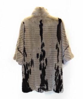 abrigo vison moderno silver vja 8