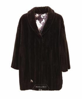 abrigo vison rasado