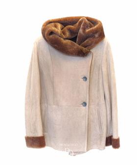 chaqueta piel vuelta en cordero mujer